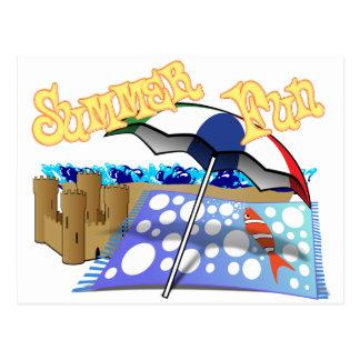 Summer Fun at the Beach Post Card