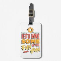 summer fun bag tag