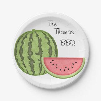 Summer Fun, BBQ, Watermelon Paper Plates
