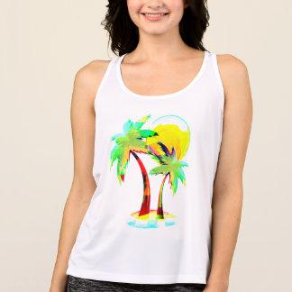 summer fun beach party bbq palm trees top design