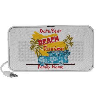 Summer Fun Beach Reunion Doodle iPod Speakers