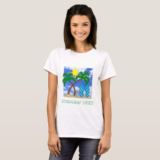 Summer Fun Beach Theme T-Shirt