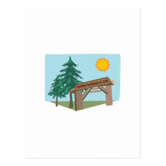 Summer Fun Begins At Camp Postcards