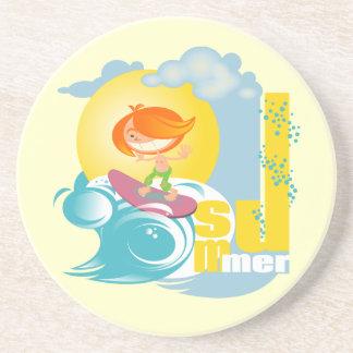Summer Fun Beverage Coaster