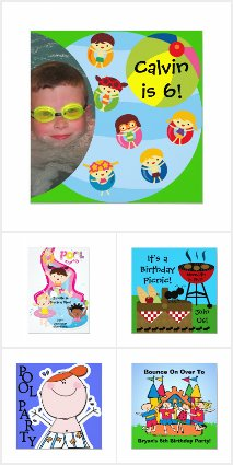 Summer Fun Birthday Invitations