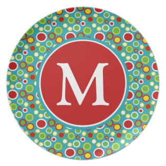 Summer Fun Bubbles Personalized Melamine Plate