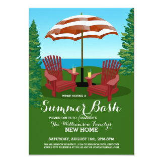 Summer Fun Celebration Party Invitations