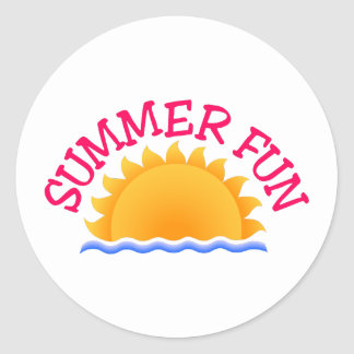 Summer Fun Classic Round Sticker