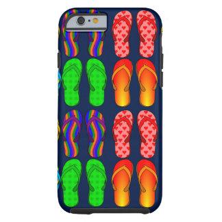Summer Fun, Colorful Flip Flops Tough iPhone 6 Case