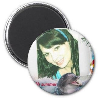 summer fun dolphin smiles beach magnets