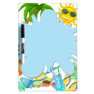 Beach Themed Summer Fun Dry Erase Board
