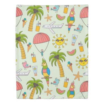 Beach Themed Summer Fun Duvet Cover