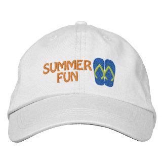 Summer Fun Flip Flop Embroidered Cap