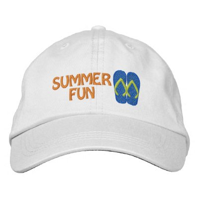 Summer Fun Flip Flop Embroidered Cap Embroidered Baseball Cap