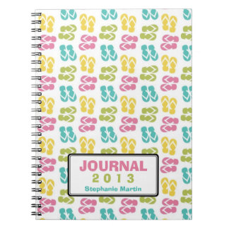 Summer fun flip flop sandal custom year journal