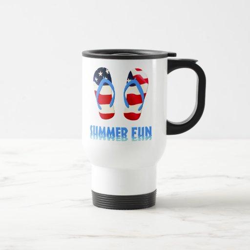 Summer Fun Flip Flop - USA Coffee Mug