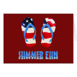 Summer Fun Flip Flop - USA Greeting Cards