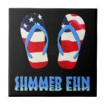 Summer Fun Flip Flop - USA Tiles