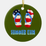 Summer Fun Flip Flops - USA Ornaments