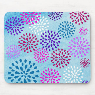 Summer Fun Flower Flower Petals Poms Design Mouse Pad