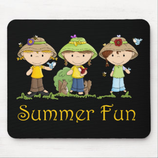 Summer Fun Girls Mouse Pad