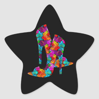 Summer Fun High Heel Shoes Star Sticker