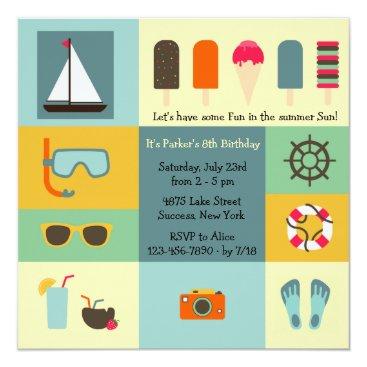 Beach Themed Summer Fun Invitation