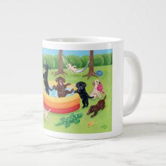 Summer Fun Labradors Painting Giant Coffee Mug