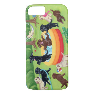 Summer Fun Labradors Painting iPhone 8/7 Case