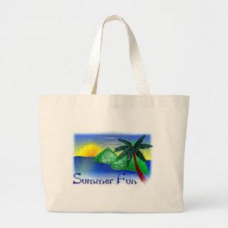 Summer Fun Large Tote Bag