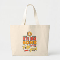 Summer Fun Large Tote Bag