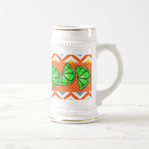 Summer Fun Limes Chevron Polka Dot Novelty Gifts Beer Stein