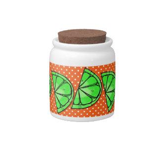 Summer Fun Limes Chevron Polka Dot Novelty Gifts Candy Dishes
