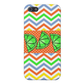 Summer Fun Limes Chevron Polka Dot Novelty Gifts Cover For iPhone 5
