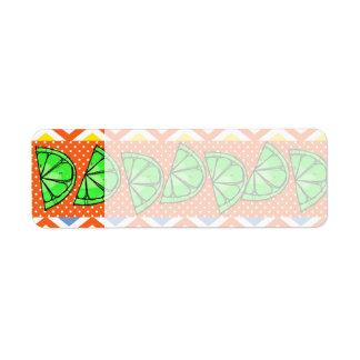 Summer Fun Limes Chevron Polka Dot Novelty Gifts Return Address Label
