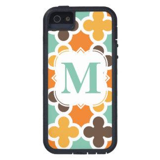 Summer Fun Monogram Retro Quatrefoil Pattern iPhone 5/5S Cases