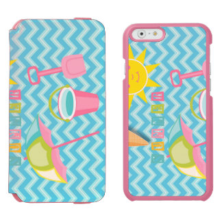 Summer Fun on Blue Waves iPhone 6/6s Wallet Case