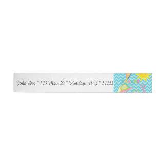 Summer Fun on Blue Waves Wrap Around Address Label