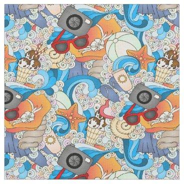 Hawaiian Themed Summer Fun Pattern | Add Your Initial 2 Fabric