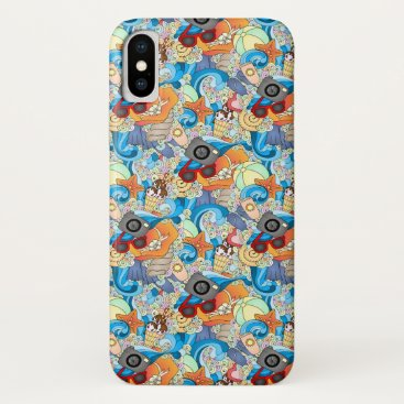 Hawaiian Themed Summer Fun Pattern | Add Your Initial 2 iPhone X Case