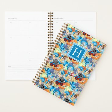 Hawaiian Themed Summer Fun Pattern | Add Your Initial Planner