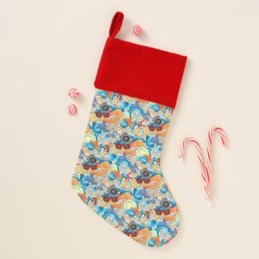 Hawaiian Themed Summer Fun Pattern Christmas Stocking