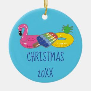 Christmas Themed Pool Floats.Swimming Pool Float Ornaments Keepsake Ornaments Zazzle