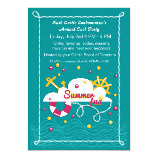 Summer Fun Pool Party Card