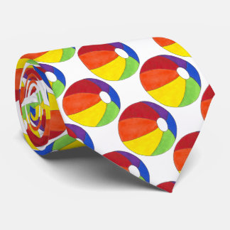 Summer Fun Rainbow Beach Ball Beachball Tie