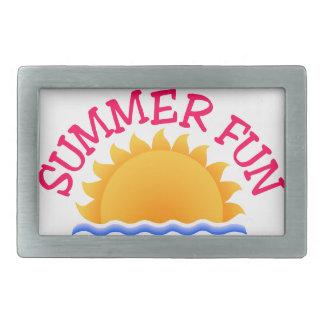 Summer Fun Rectangular Belt Buckle