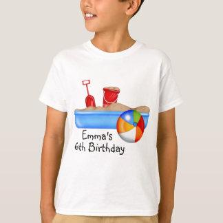 Summer Fun Sand box Beach Ball T-Shirt