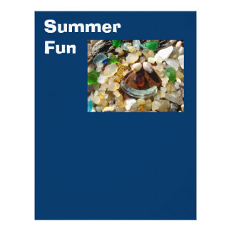 Summer Fun Scrapbooking paper Beach Coast Agates