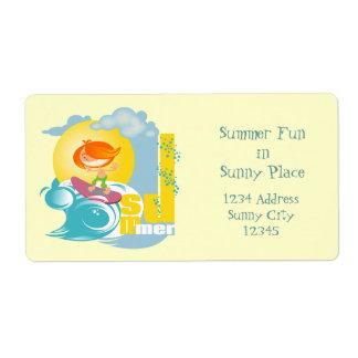 Summer Fun Shipping Labels