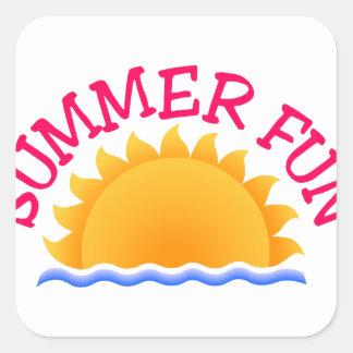 Summer Fun Square Sticker